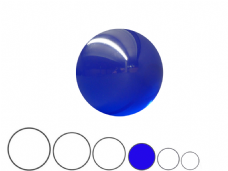 Jac Products Ocean Blue Translucent 75mm Acrylic Contact Ball